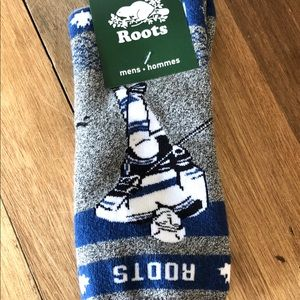 ROOTS Mens Casual Boot Socks Hockey Design
